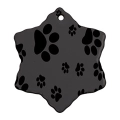 Dog Foodprint Paw Prints Seamless Background And Pattern Ornament (Snowflake)