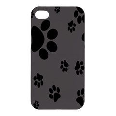 Dog Foodprint Paw Prints Seamless Background And Pattern Apple Iphone 4/4s Hardshell Case