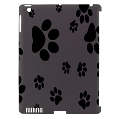 Dog Foodprint Paw Prints Seamless Background And Pattern Apple iPad 3/4 Hardshell Case (Compatible with Smart Cover)