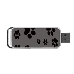 Dog Foodprint Paw Prints Seamless Background And Pattern Portable USB Flash (Two Sides)
