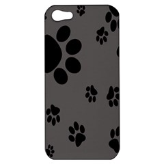Dog Foodprint Paw Prints Seamless Background And Pattern Apple Iphone 5 Hardshell Case