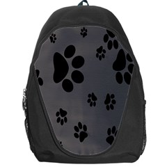 Dog Foodprint Paw Prints Seamless Background And Pattern Backpack Bag