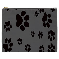 Dog Foodprint Paw Prints Seamless Background And Pattern Cosmetic Bag (xxxl)