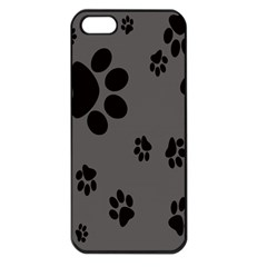 Dog Foodprint Paw Prints Seamless Background And Pattern Apple iPhone 5 Seamless Case (Black)