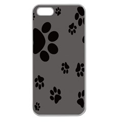 Dog Foodprint Paw Prints Seamless Background And Pattern Apple Seamless Iphone 5 Case (clear)