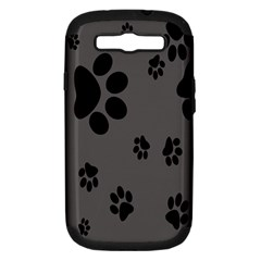 Dog Foodprint Paw Prints Seamless Background And Pattern Samsung Galaxy S III Hardshell Case (PC+Silicone)