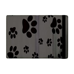 Dog Foodprint Paw Prints Seamless Background And Pattern Apple iPad Mini Flip Case