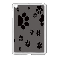 Dog Foodprint Paw Prints Seamless Background And Pattern Apple Ipad Mini Case (white)