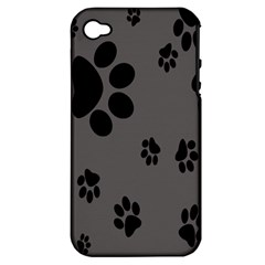 Dog Foodprint Paw Prints Seamless Background And Pattern Apple iPhone 4/4S Hardshell Case (PC+Silicone)