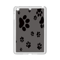 Dog Foodprint Paw Prints Seamless Background And Pattern iPad Mini 2 Enamel Coated Cases