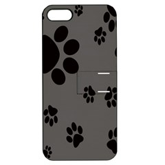 Dog Foodprint Paw Prints Seamless Background And Pattern Apple iPhone 5 Hardshell Case with Stand