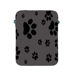 Dog Foodprint Paw Prints Seamless Background And Pattern Apple Ipad 2/3/4 Protective Soft Cases