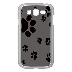 Dog Foodprint Paw Prints Seamless Background And Pattern Samsung Galaxy Grand Duos I9082 Case (white)