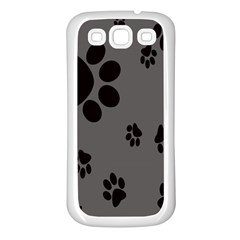 Dog Foodprint Paw Prints Seamless Background And Pattern Samsung Galaxy S3 Back Case (white)