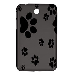 Dog Foodprint Paw Prints Seamless Background And Pattern Samsung Galaxy Tab 3 (7 ) P3200 Hardshell Case