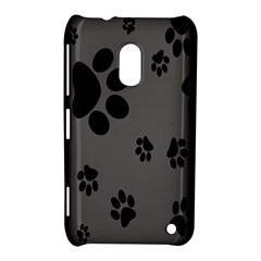 Dog Foodprint Paw Prints Seamless Background And Pattern Nokia Lumia 620