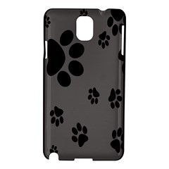 Dog Foodprint Paw Prints Seamless Background And Pattern Samsung Galaxy Note 3 N9005 Hardshell Case
