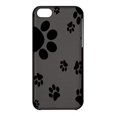 Dog Foodprint Paw Prints Seamless Background And Pattern Apple iPhone 5C Hardshell Case