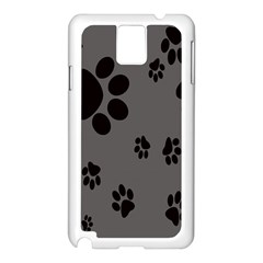 Dog Foodprint Paw Prints Seamless Background And Pattern Samsung Galaxy Note 3 N9005 Case (white)