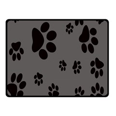 Dog Foodprint Paw Prints Seamless Background And Pattern Double Sided Fleece Blanket (small)
