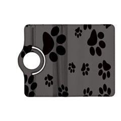 Dog Foodprint Paw Prints Seamless Background And Pattern Kindle Fire HD (2013) Flip 360 Case