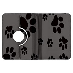 Dog Foodprint Paw Prints Seamless Background And Pattern Kindle Fire Hdx Flip 360 Case