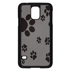 Dog Foodprint Paw Prints Seamless Background And Pattern Samsung Galaxy S5 Case (black)