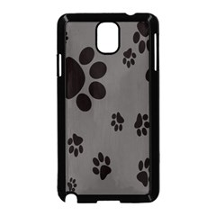 Dog Foodprint Paw Prints Seamless Background And Pattern Samsung Galaxy Note 3 Neo Hardshell Case (Black)