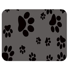 Dog Foodprint Paw Prints Seamless Background And Pattern Double Sided Flano Blanket (medium)