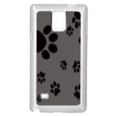 Dog Foodprint Paw Prints Seamless Background And Pattern Samsung Galaxy Note 4 Case (white)
