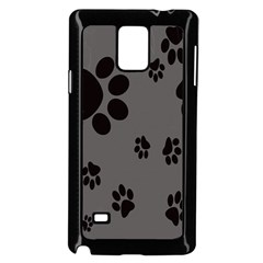 Dog Foodprint Paw Prints Seamless Background And Pattern Samsung Galaxy Note 4 Case (black)