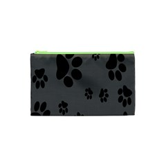 Dog Foodprint Paw Prints Seamless Background And Pattern Cosmetic Bag (XS)