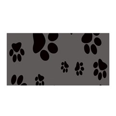 Dog Foodprint Paw Prints Seamless Background And Pattern Satin Wrap