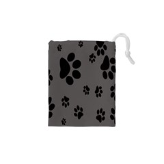 Dog Foodprint Paw Prints Seamless Background And Pattern Drawstring Pouches (XS)