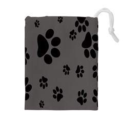 Dog Foodprint Paw Prints Seamless Background And Pattern Drawstring Pouches (extra Large)