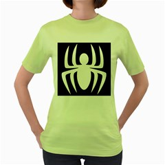 White Spider Women s Green T Shirt