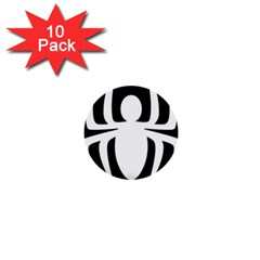 White Spider 1  Mini Buttons (10 Pack)