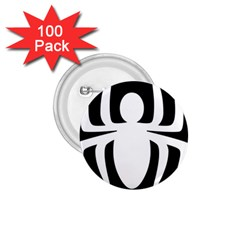 White Spider 1 75  Buttons (100 Pack)