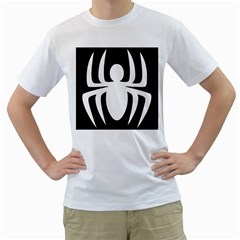 White Spider Men s T Shirt (white) (two Sided)