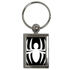 White Spider Key Chains (rectangle)