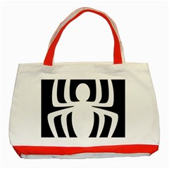 White Spider Classic Tote Bag (red)