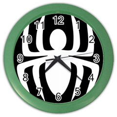 White Spider Color Wall Clocks