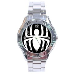 White Spider Stainless Steel Analogue Watch