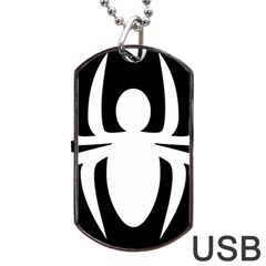 White Spider Dog Tag Usb Flash (one Side)