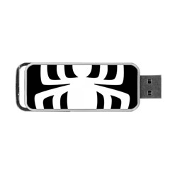 White Spider Portable Usb Flash (one Side)