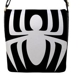 White Spider Flap Messenger Bag (s)