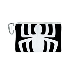 White Spider Canvas Cosmetic Bag (s)