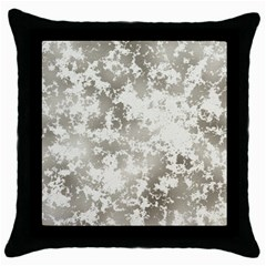 Wall Rock Pattern Structure Dirty Throw Pillow Case (black)