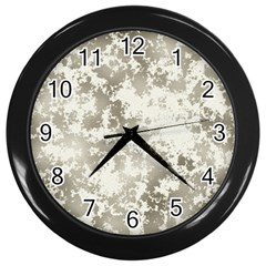 Wall Rock Pattern Structure Dirty Wall Clocks (Black)