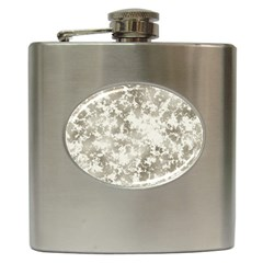 Wall Rock Pattern Structure Dirty Hip Flask (6 oz)